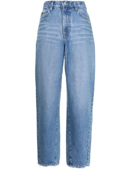 Хлопковые синие зауженные джинсы-скинни Nobody Denim