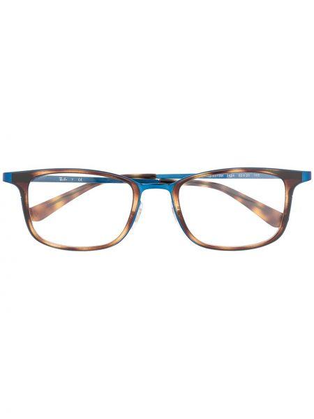 Prosto brązowy oprawka do okularów metal prostokątny Ray-ban