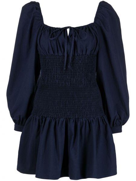 Niebieska sukienka mini z długimi rękawami bawełniana Ciao Lucia