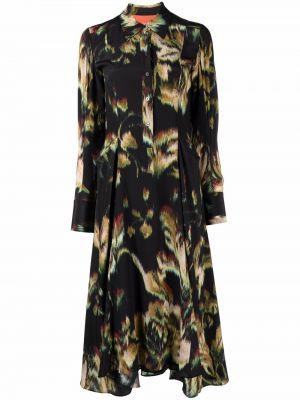 Шелковое платье - черное Paul Smith