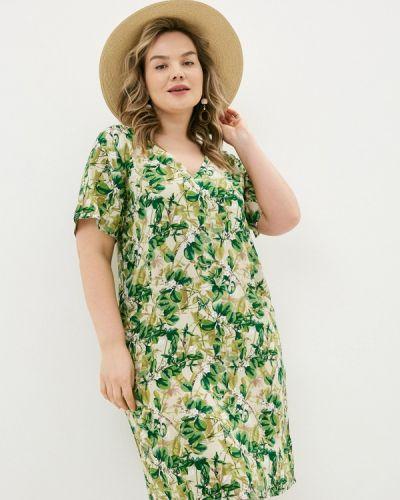 Повседневное зеленое платье Allegri