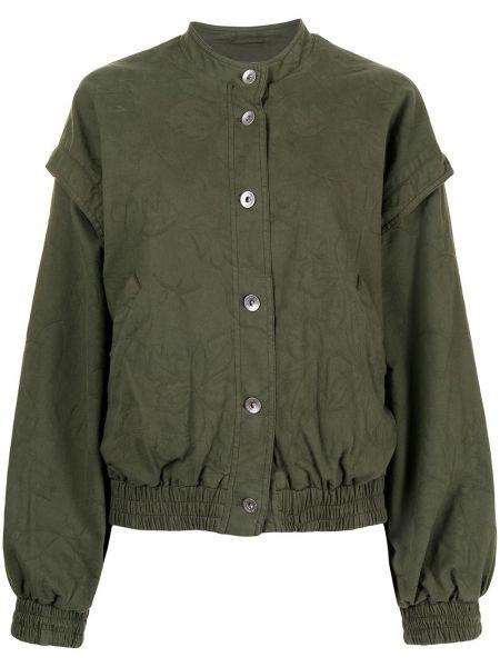 Zielona kurtka ze stójką Ymc