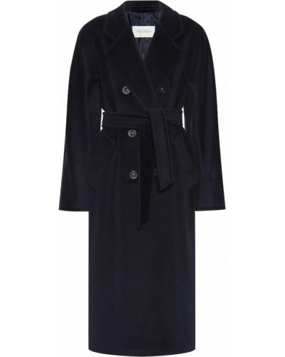 Пальто шерстяное синее Max Mara