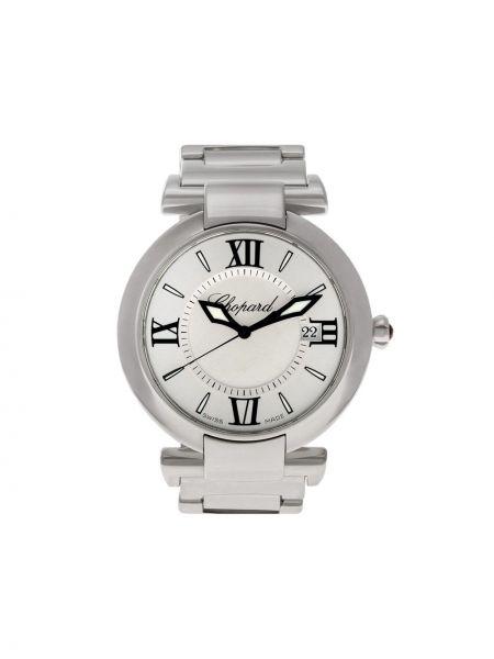 Серебряные часы круглые Chopard