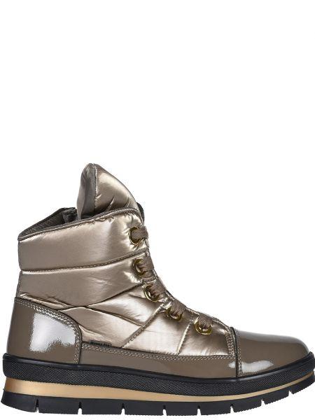 Кожаные ботинки - золотые Jog Dog