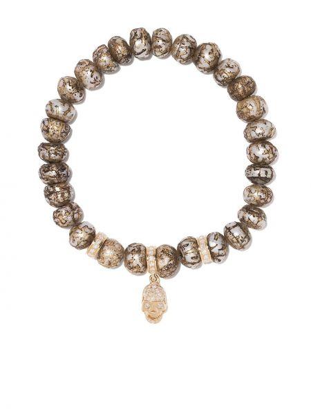 Серебряный золотой браслет с бриллиантом Loree Rodkin