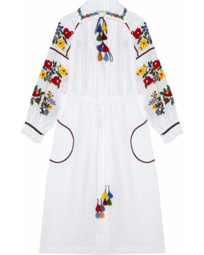 Платье миди с цветочным принтом с вырезом Vita Kin