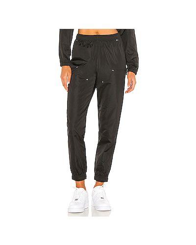 Черные спортивные брюки с накладными карманами с заплатками на шнурках Adam Selman Sport