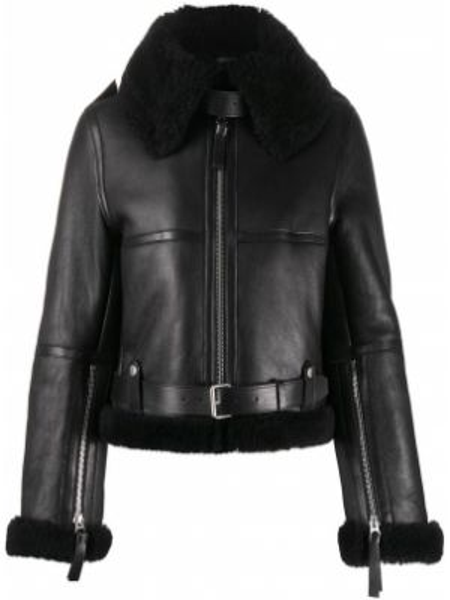 Силиконовая черная длинная куртка с манжетами с подкладкой Acne Studios