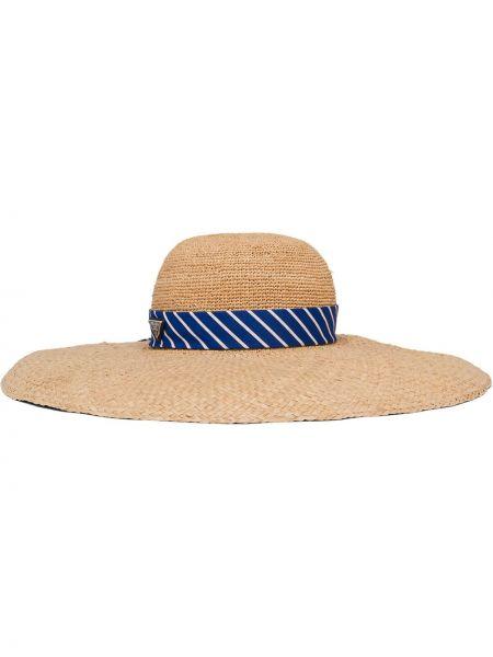 Kapelusz na plażę bawełniany Prada