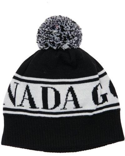 Czarny wełniany kapelusz Canada Goose