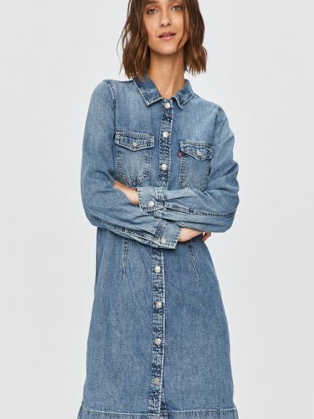 Хлопковое джинсовое платье с воротником Levi's®