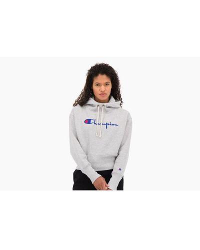 Bluza długa z kapturem z długimi rękawami bawełniana Champion