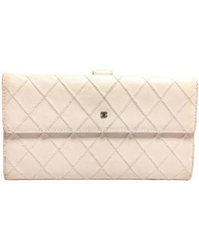 Różowy portfel skórzany Chanel Vintage
