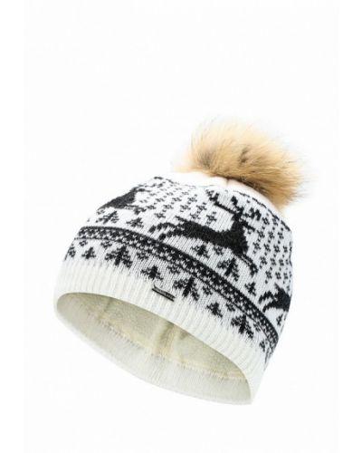 Белая шапка с помпоном Finn Flare