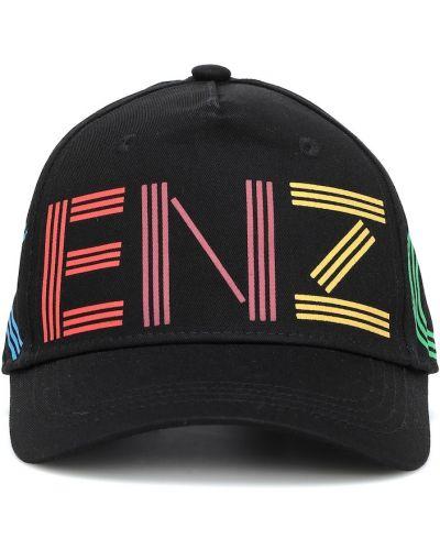 Czarny bawełna bawełna czapka Kenzo Kids
