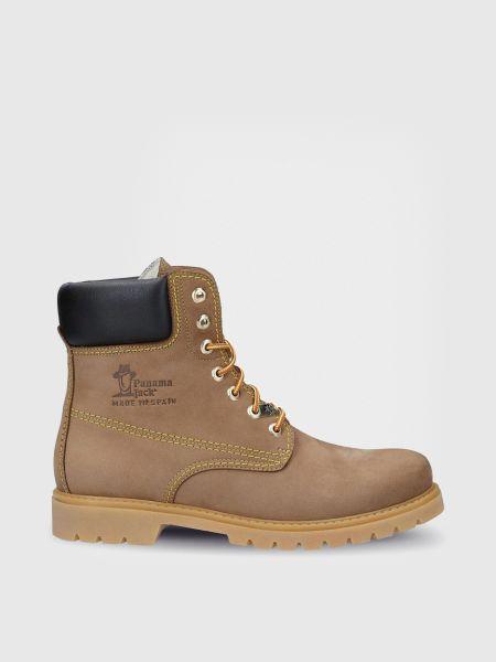 Ботинки из нубука - коричневые Panama Jack