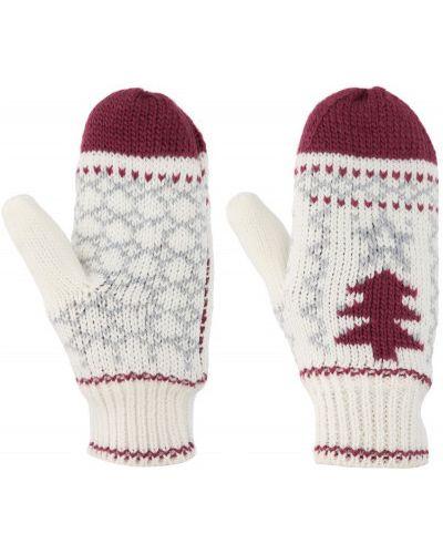 Флисовые вязаные белые перчатки Luhta