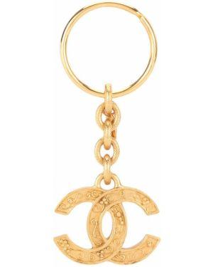 Brelok z logo ze złota Chanel Pre-owned