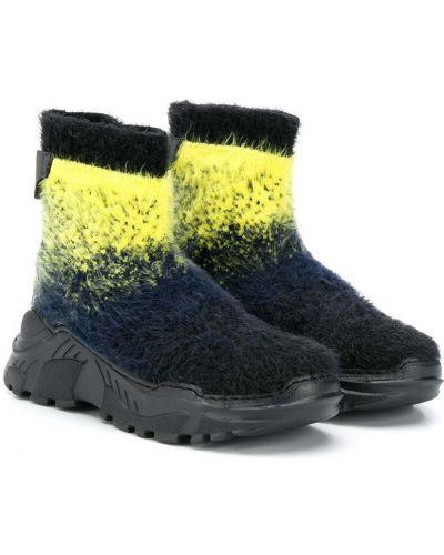 Черные ботинки без застежки Cinzia Araia Kids