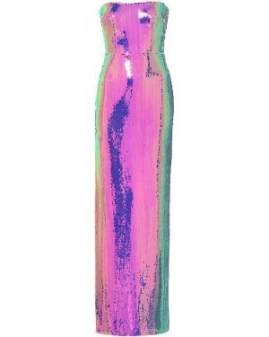 Платье мини с пайетками - фиолетовое Alex Perry