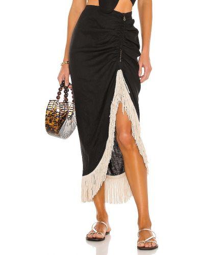 Bawełna czarny spódnica z falbankami Just Bee Queen