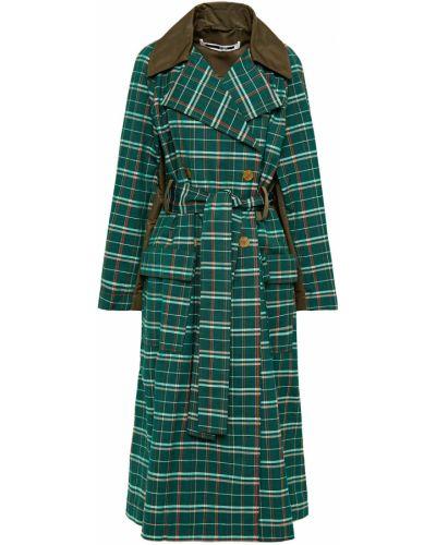 Зеленое шерстяное пальто двубортное Mcq Alexander Mcqueen