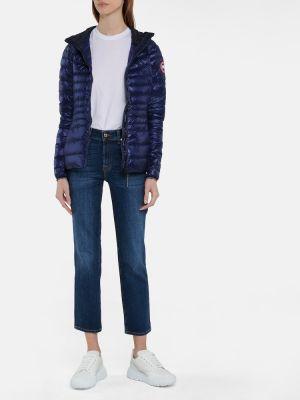 Пуховая синяя стеганая куртка Canada Goose