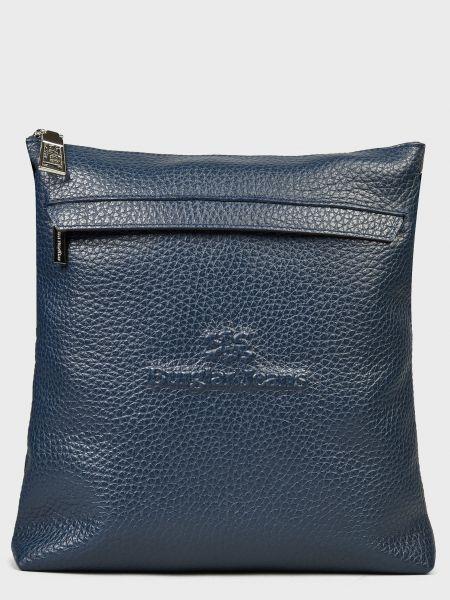 Кожаная сумка - синяя Sara Burglar