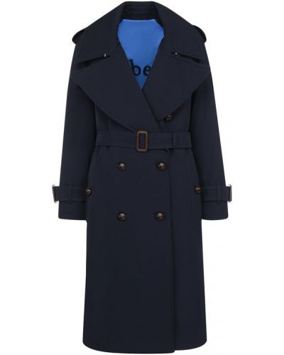 Двубортное пальто с поясом шерстяное Burberry
