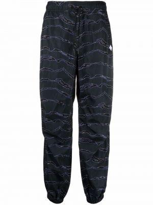 Spodnie z haftem - niebieskie Marcelo Burlon County Of Milan