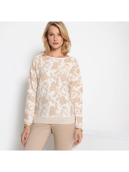 Пуловер в рубчик шерстяной Anne Weyburn