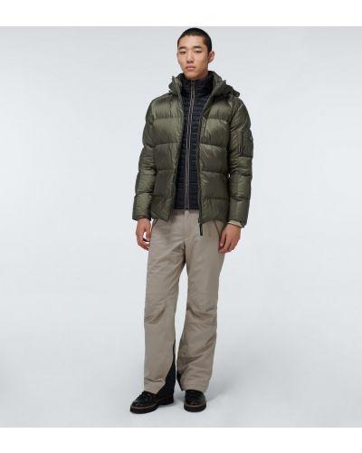 Зеленая теплая пуховая дутая куртка Bogner
