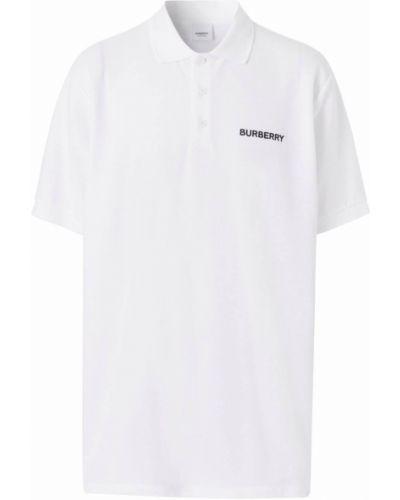 Biała koszula z haftem - biała Burberry
