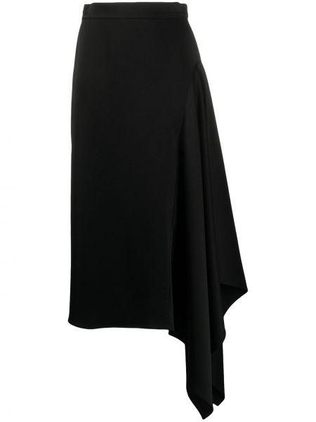 Czarna spódnica maxi z wysokim stanem asymetryczna Escada