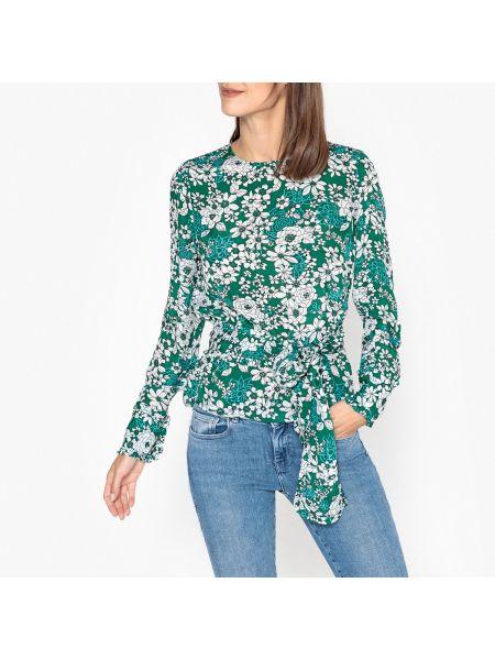 Блузка с длинным рукавом с воротником-стойкой с цветочным принтом Essentiel Antwerp