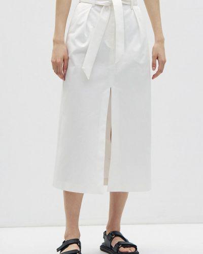 Прямая белая юбка карандаш Lime