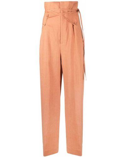 Оранжевые шерстяные брюки с карманами Jacquemus