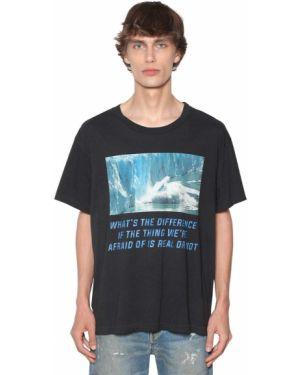Czarny t-shirt bawełniany Lost Daze Ca