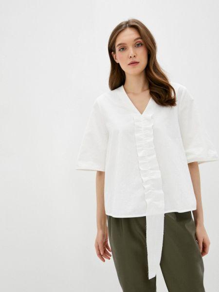 Белая блузка с оборками Белка