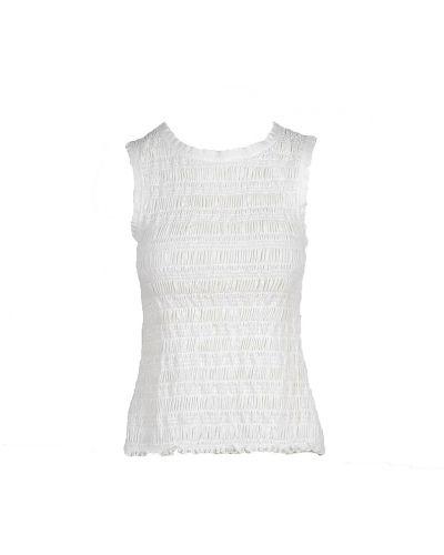 Biała koszulka bez rękawów Alysi