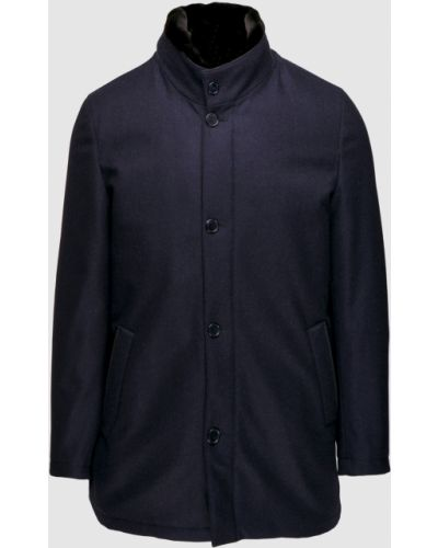 Куртка с мехом - синяя Enrico Mandelli