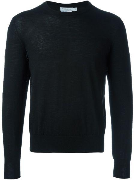 Кашемировый черный свитер с круглым вырезом Fashion Clinic Timeless