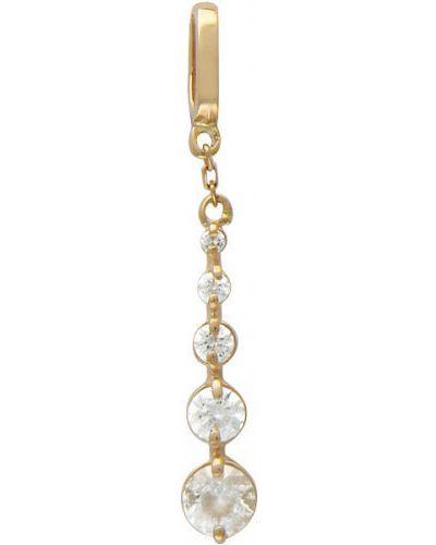 Золотая подвеска с камнями с фианитом эстет