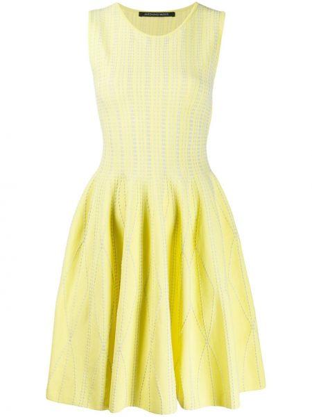 Платье с вышивкой - желтое Antonino Valenti