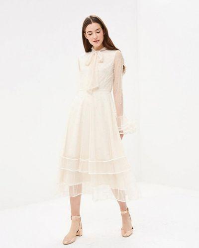 Вечернее платье осеннее бежевое Danity