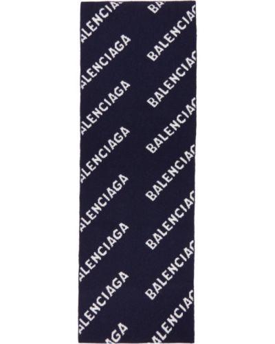 Шерстяной белый шарф прямоугольный Balenciaga