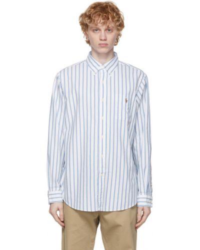 Niebieska koszula oxford bawełniana w paski Polo Ralph Lauren