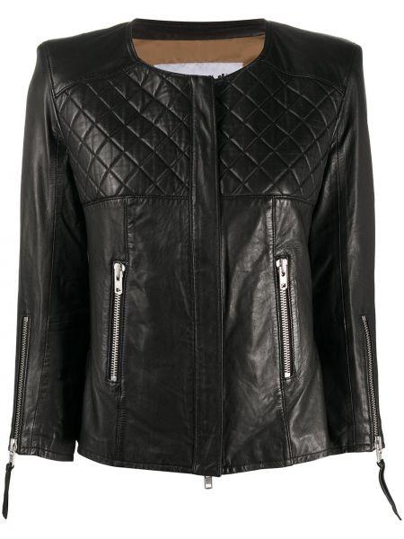 Прямая черная стеганая куртка S.w.o.r.d 6.6.44