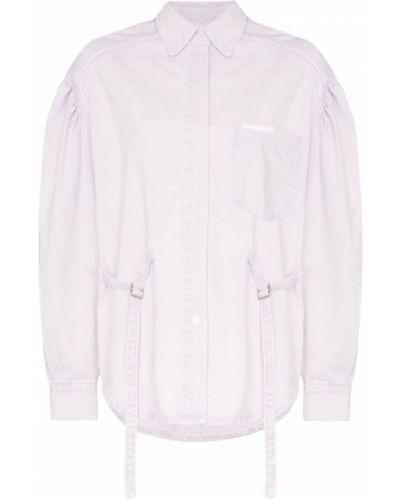 Фиолетовая джинсовая куртка на пуговицах Pushbutton